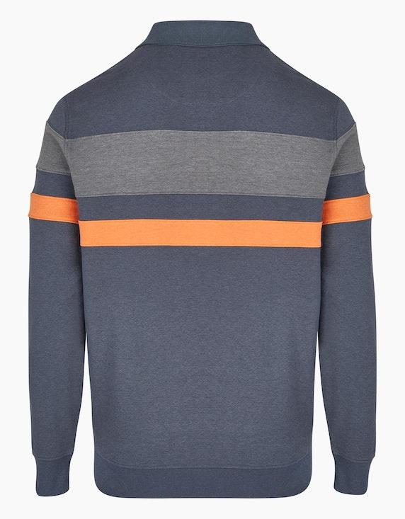 Bexleys man Polo Sweatshirt mit Streifen-Dessin | ADLER Mode Onlineshop