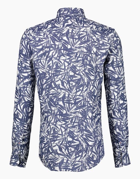 Lerros Leinenhemd mit Allover-Print | ADLER Mode Onlineshop