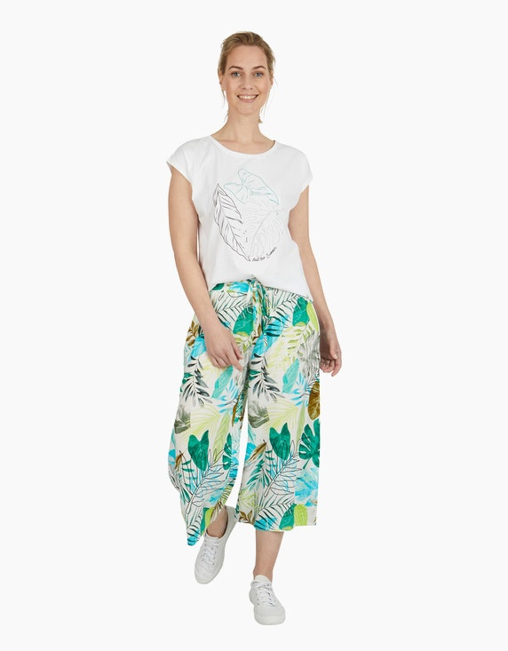 Viventy Shirt mit platziertem Blätter-Print   ADLER Mode Onlineshop