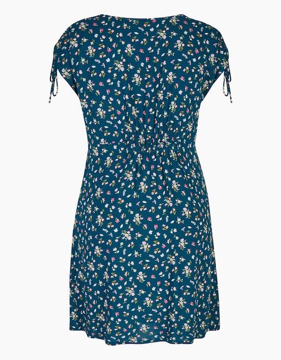 Bexleys woman Viskose-Kleid mit Knopfleiste und gelegten Falten | ADLER Mode Onlineshop