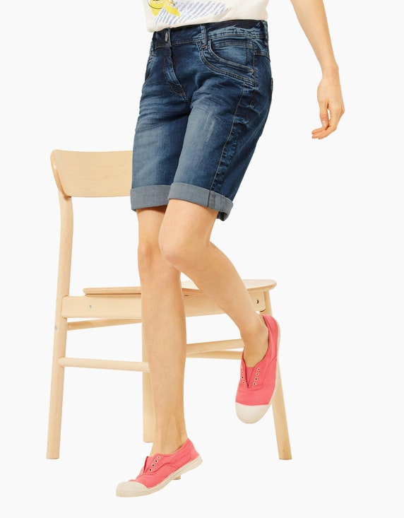 CECIL Blaue Loose Fit Shorts   ADLER Mode Onlineshop