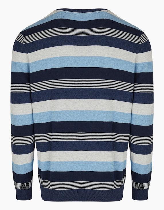 Bexleys man Modern gestreifter Pullover aus nachhaltiger Baumwolle | ADLER Mode Onlineshop