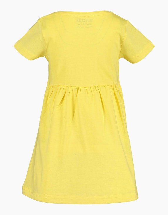 Blue Seven Mini Girls Kleid mit Blume und Motto-Druck | ADLER Mode Onlineshop