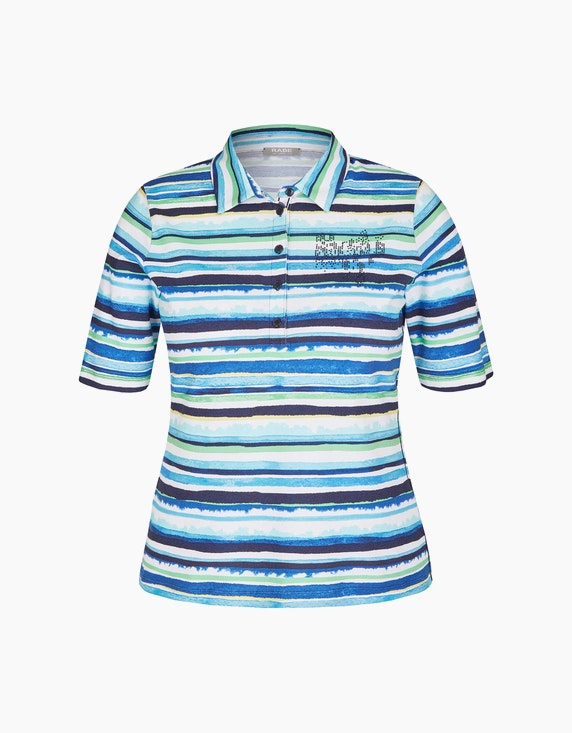 Rabe Poloshirt mit Streifenmuster und Strassbesatz | ADLER Mode Onlineshop
