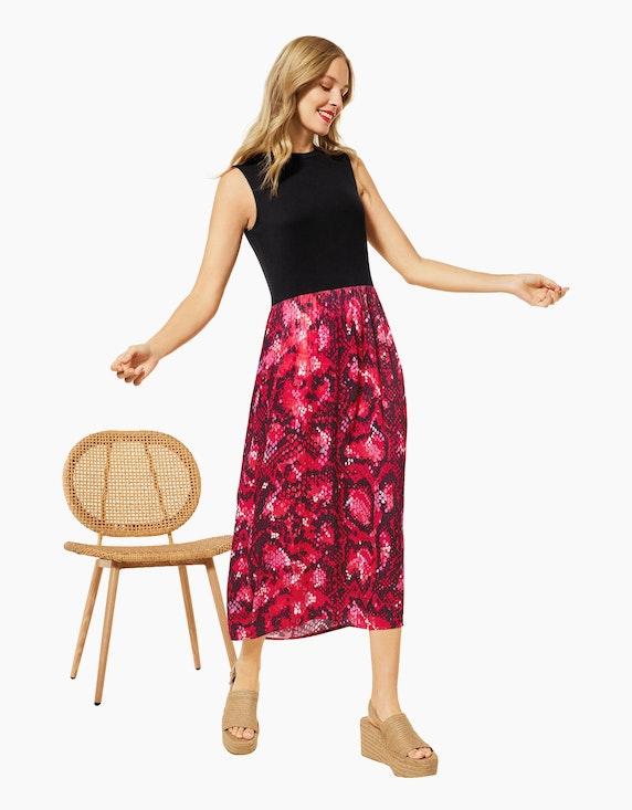 Street One Kleid im Materialmix | ADLER Mode Onlineshop