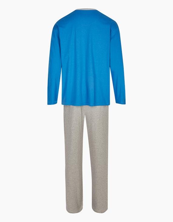 Bexleys man Schlafanzug mit Colorblock | ADLER Mode Onlineshop