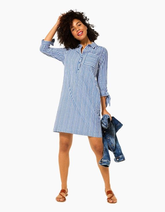 Street One Kleid mit Streifen Muster | ADLER Mode Onlineshop