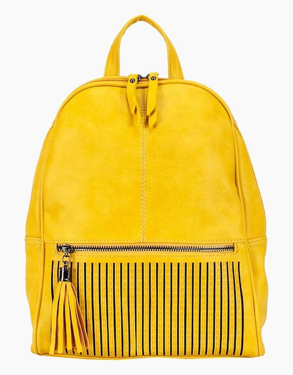 Conti Moderner Rucksack mit Verzierung in Gelb | ADLER Mode Onlineshop