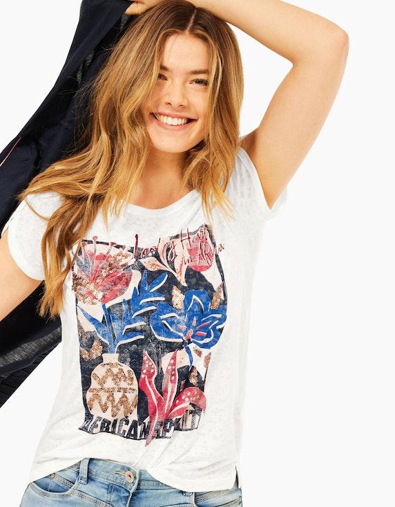 CECIL T-Shirt in Burnout Optik | ADLER Mode Onlineshop
