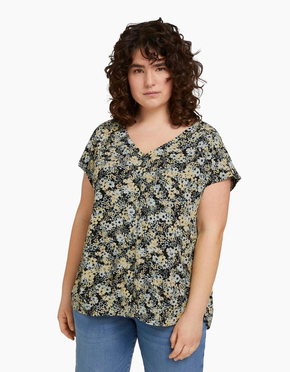 My True Me Floral gemusterte Bluse   ADLER Mode Onlineshop