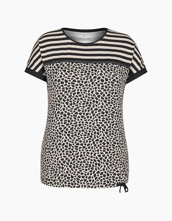 Rabe T-Shirt mit Glitzersteinen und exotischem Muster-Mix | ADLER Mode Onlineshop