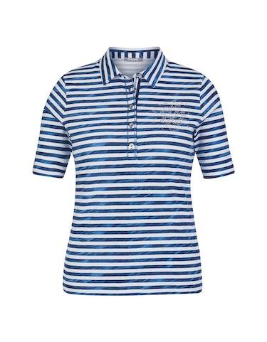 rabe - Shirt mit Streifen und Polo-Kragen, 50