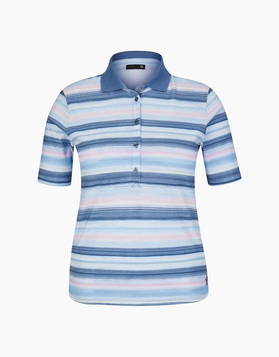 Rabe Poloshirt mit Streifen und Glitzersteinen | ADLER Mode Onlineshop