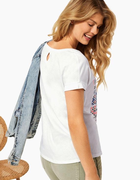 CECIL Shirt im Ethno-Look aus reiner Baumwolle | ADLER Mode Onlineshop