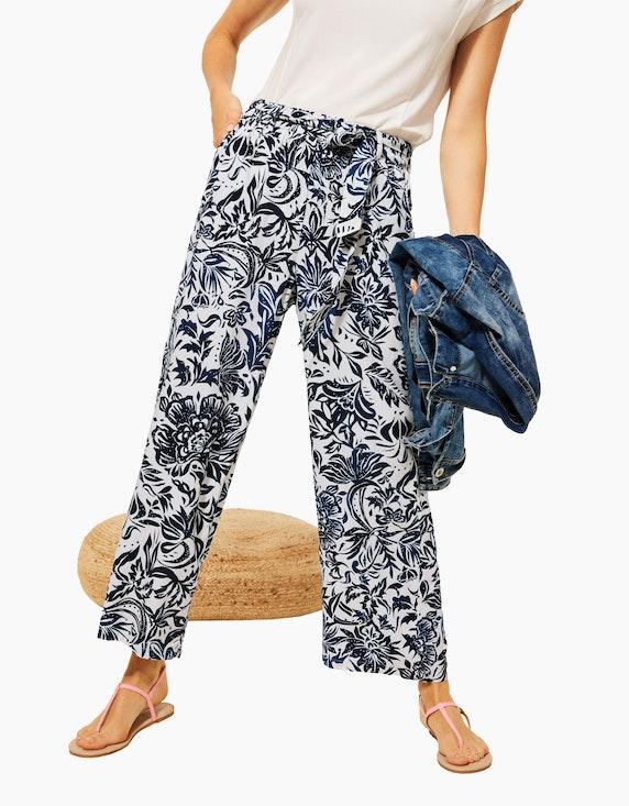 CECIL Weite Hose mit floralem Allover-Muster | ADLER Mode Onlineshop
