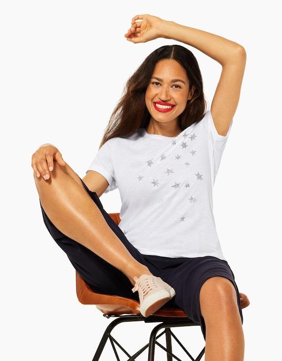 Street One Shirt mit Glitzer-Sternen   ADLER Mode Onlineshop