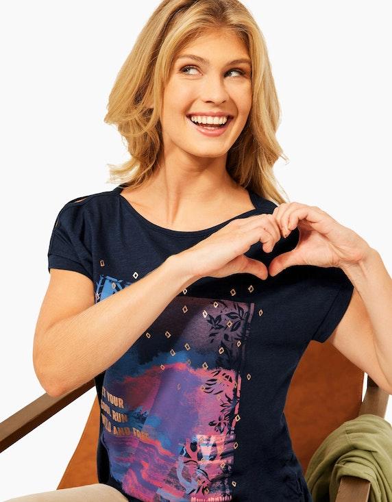 CECIL Shirt mit Frontprint und Raffungen | ADLER Mode Onlineshop