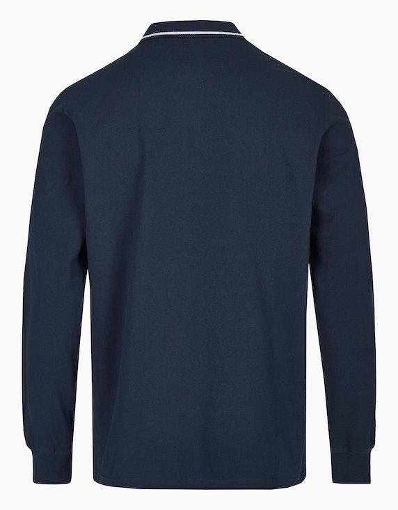 Via Cortesa Piqué-Poloshirt mit langen Ärmeln | ADLER Mode Onlineshop