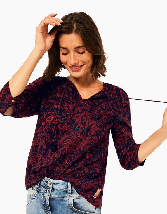 CECIL Bluse im Tunika-Style mit Allover-Muster | ADLER Mode Onlineshop
