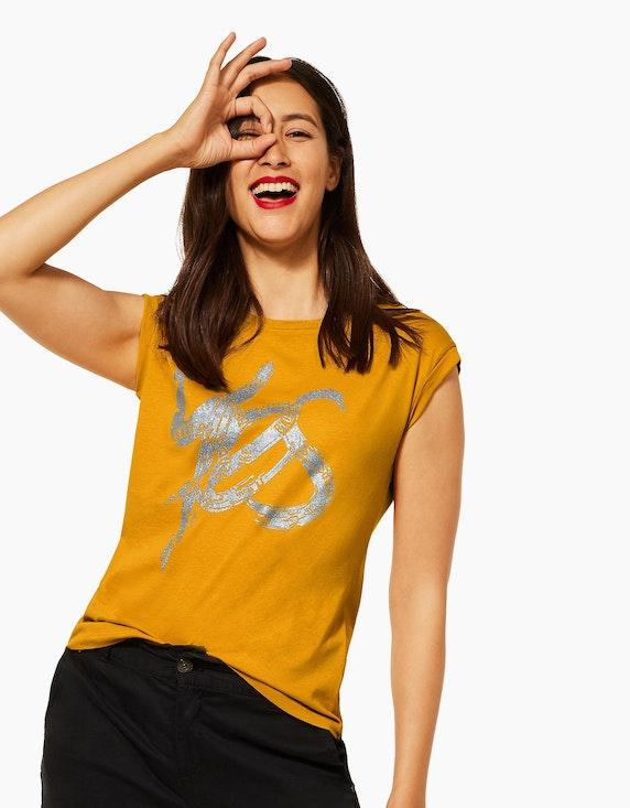 Street One Shirt mit schimmerndem Folienprint   ADLER Mode Onlineshop