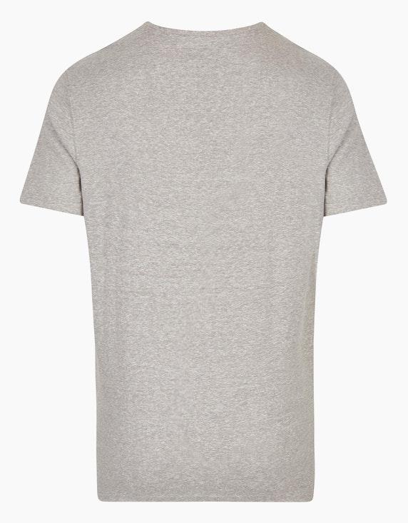 Bexleys man Meliertes T-Shirt mit Brustprint | ADLER Mode Onlineshop