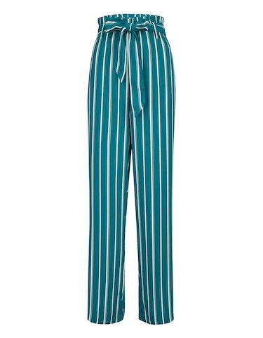 bexleys woman - Palazzo-Hose mit Streifen und Paperbag-Bund, 24