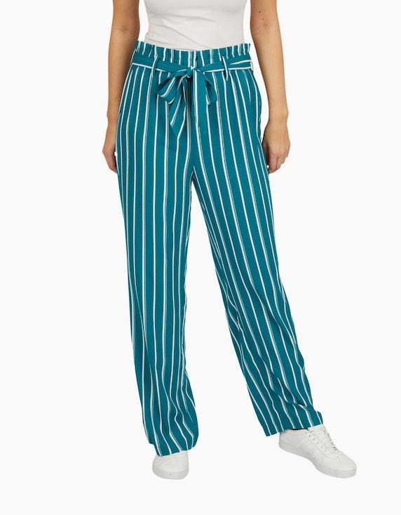 Bexleys woman Palazzo-Hose mit Streifen und Paperbag-Bund | ADLER Mode Onlineshop