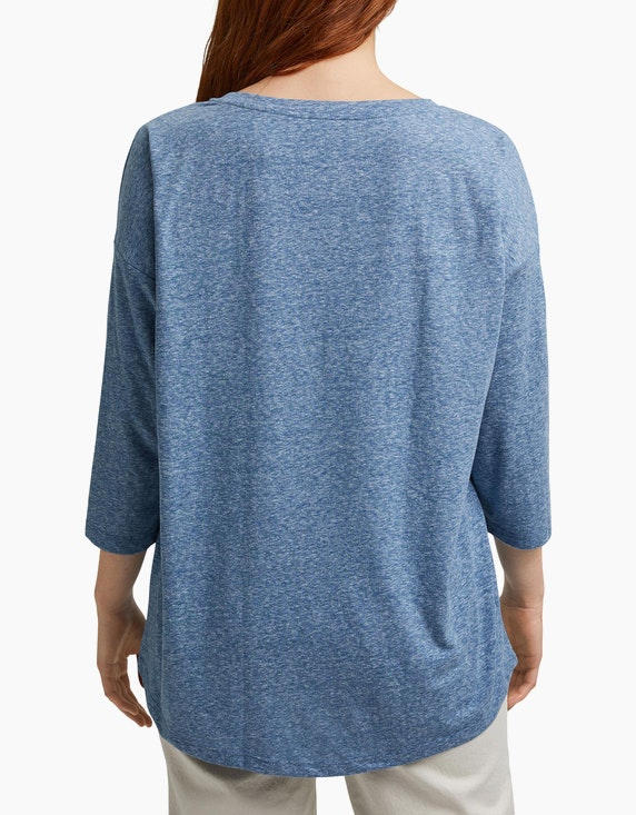 Esprit Basic-Shirt in Melange-Optik, CURVY | ADLER Mode Onlineshop