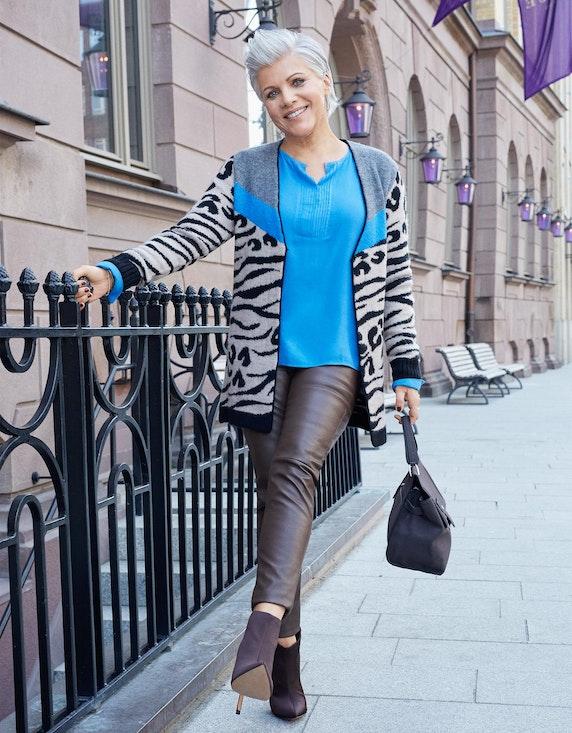 Birgit Schrowange Kollektion Strickjacke im Mustermix   ADLER Mode Onlineshop