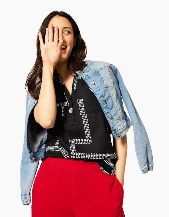 Street One Blusentop mit Brusttaschen | ADLER Mode Onlineshop
