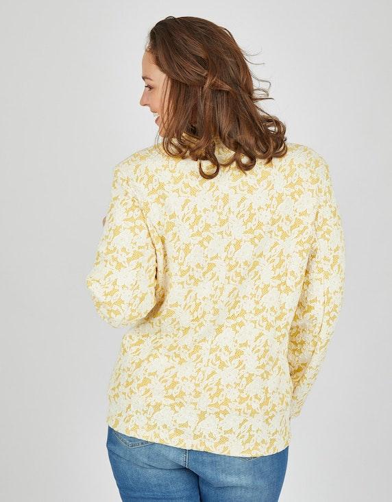 Thea Jacquard-Blazer mit floraler Spitze, bicolor   ADLER Mode Onlineshop