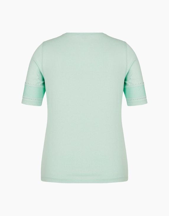 Malva Shirt mit Mesh-Einsätzen und Strassbesatz | ADLER Mode Onlineshop