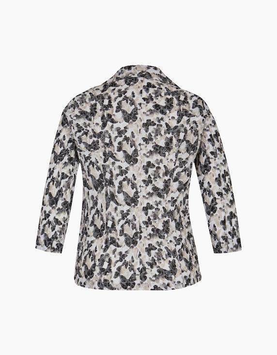 Bexleys woman Crinkle-Blusenblazer mit Schmetterlingsdruck und Ausbrenner   ADLER Mode Onlineshop