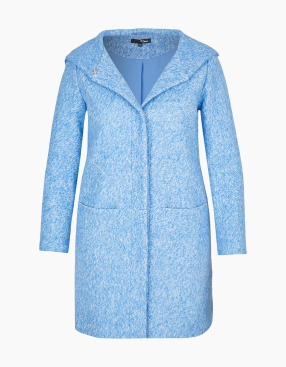 MY OWN Flauschiger Mantel mit Kapuze in Hellblau | ADLER Mode Onlineshop