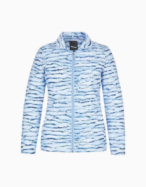 MY OWN Steppjacke mit Marmor-Muster in Blau/Weiß | ADLER Mode Onlineshop