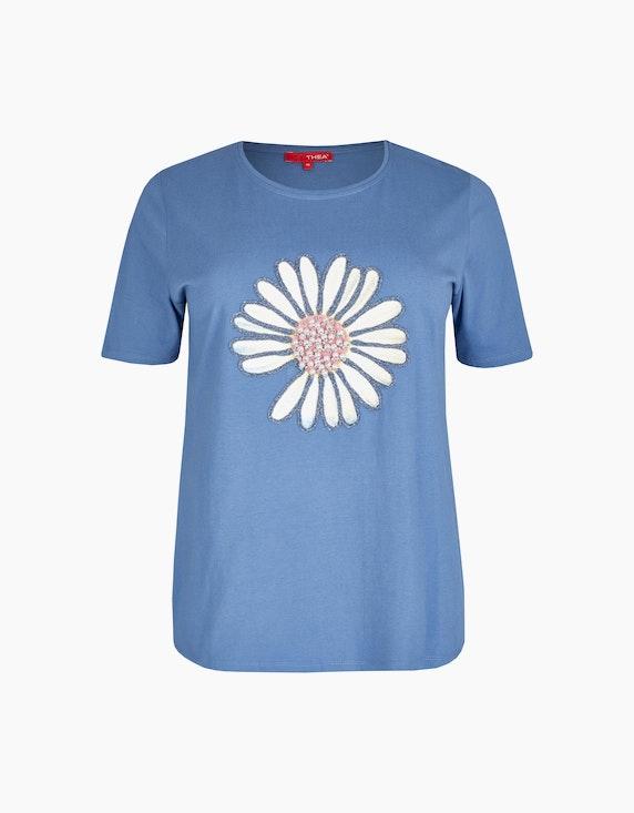 Thea Shirt mit Gänseblümchen-Druck in Blau   ADLER Mode Onlineshop