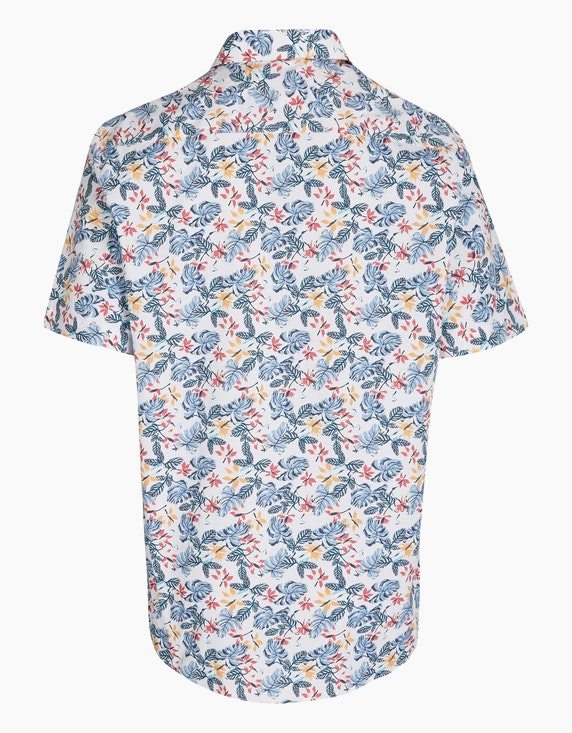 Bexleys man Freizeithemd mit Blätterprint, REGULAR FIT | ADLER Mode Onlineshop