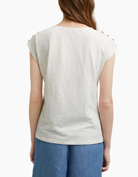 Esprit T-Shirt mit Knopfleisten   ADLER Mode Onlineshop