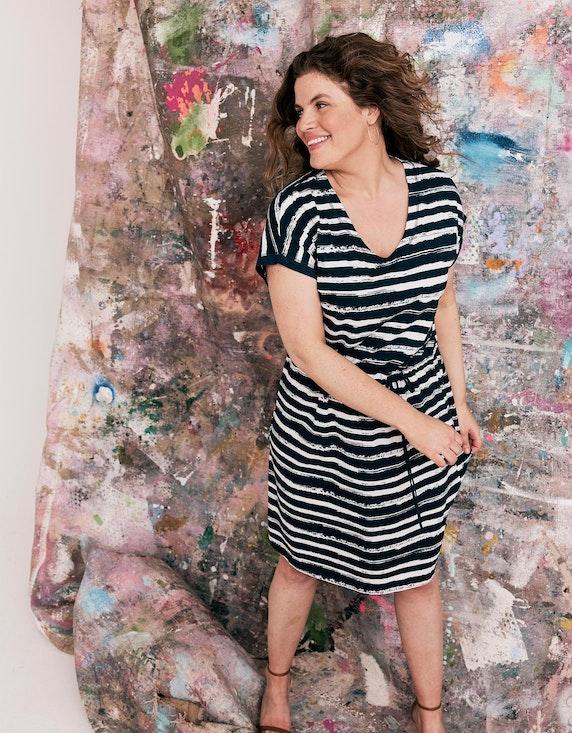 Thea Jerseykleid mit Tunnelzug in der Taille | ADLER Mode Onlineshop