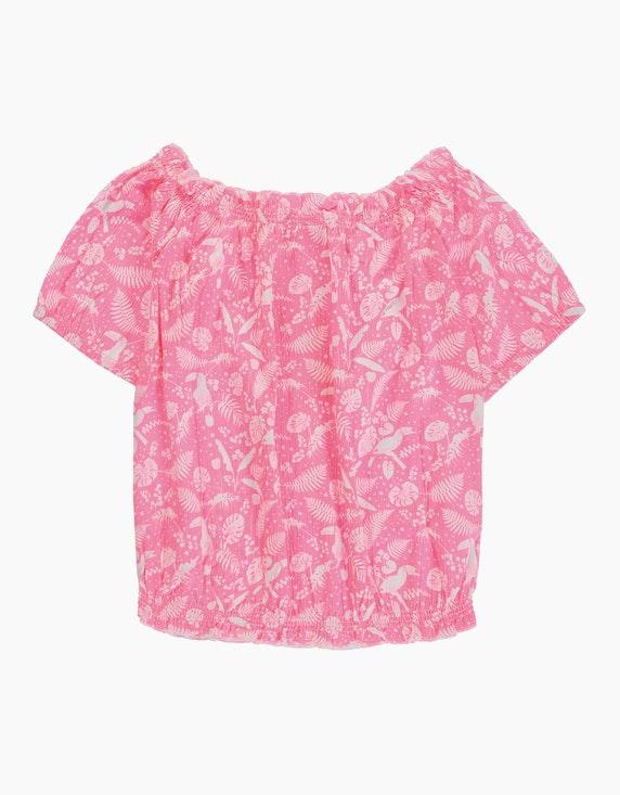 Tom Tailor Girls Carmenshirt mit Blumendruck | ADLER Mode Onlineshop