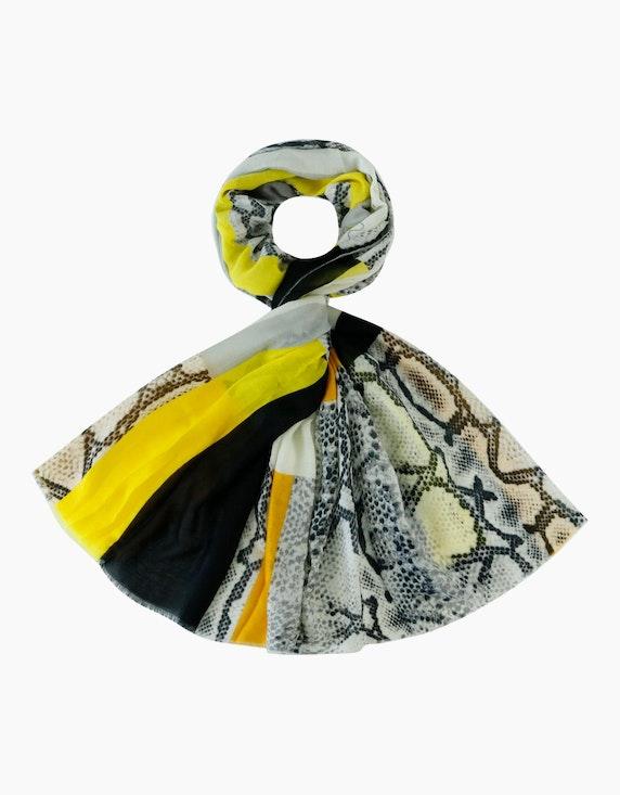 Adler Collection Schal im Streifendessin mit Schlangeneinsätzen | ADLER Mode Onlineshop