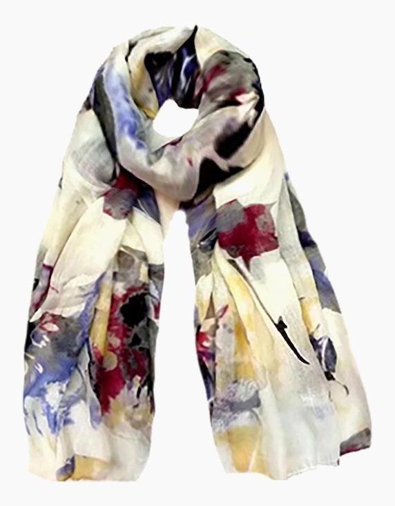 Adler Collection Schal in aquarelligem Blumendruck   ADLER Mode Onlineshop