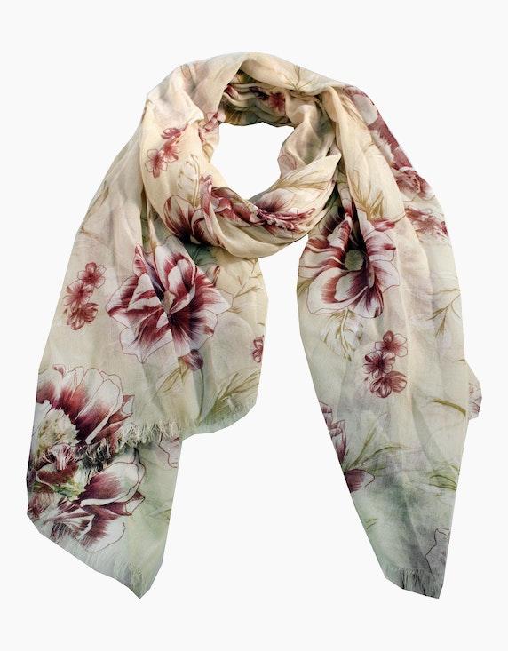 Adler Collection Schal mit großem Blütendruck | ADLER Mode Onlineshop