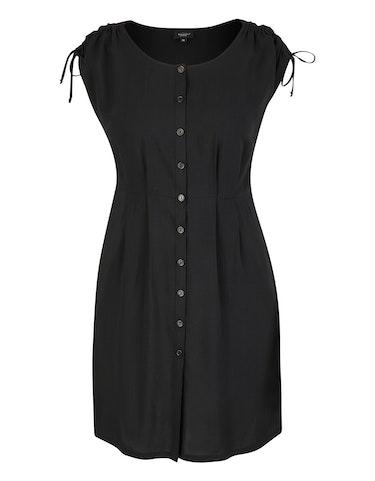 Produktbild zu Viskose-Kleid mit Knopfleiste und gelegten Falten von Bexleys woman