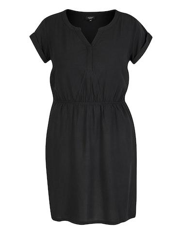 Produktbild zu Viskose-Kleid mit elastischer Taille von Bexleys woman