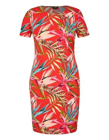 bexleys woman - Floral bedrucktes Jerseykleid, 42