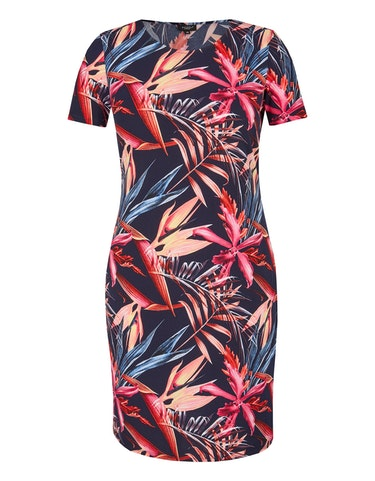 bexleys woman - Floral bedrucktes Jerseykleid, 48