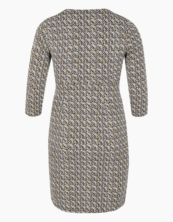 Bexleys woman Jerseykleid mit Allover-Print und gelegten Falten | ADLER Mode Onlineshop
