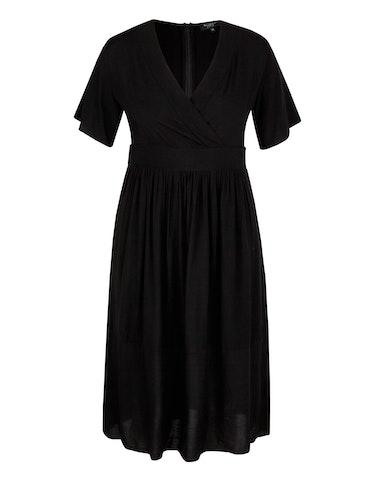 Produktbild zu Viskose-Kleid mit tiefem V-Ausschnitt von Bexleys woman