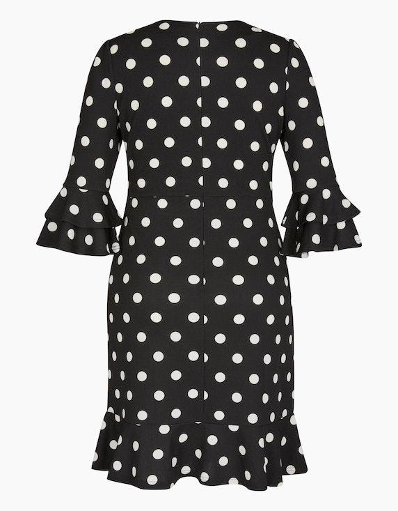Bexleys woman Jerseykleid mit Polka Dots und Volants | ADLER Mode Onlineshop